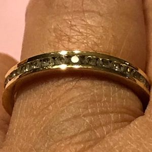 Jewelry - Eternity Band With Simulated Diamonds